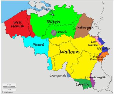 belgium nyelvei